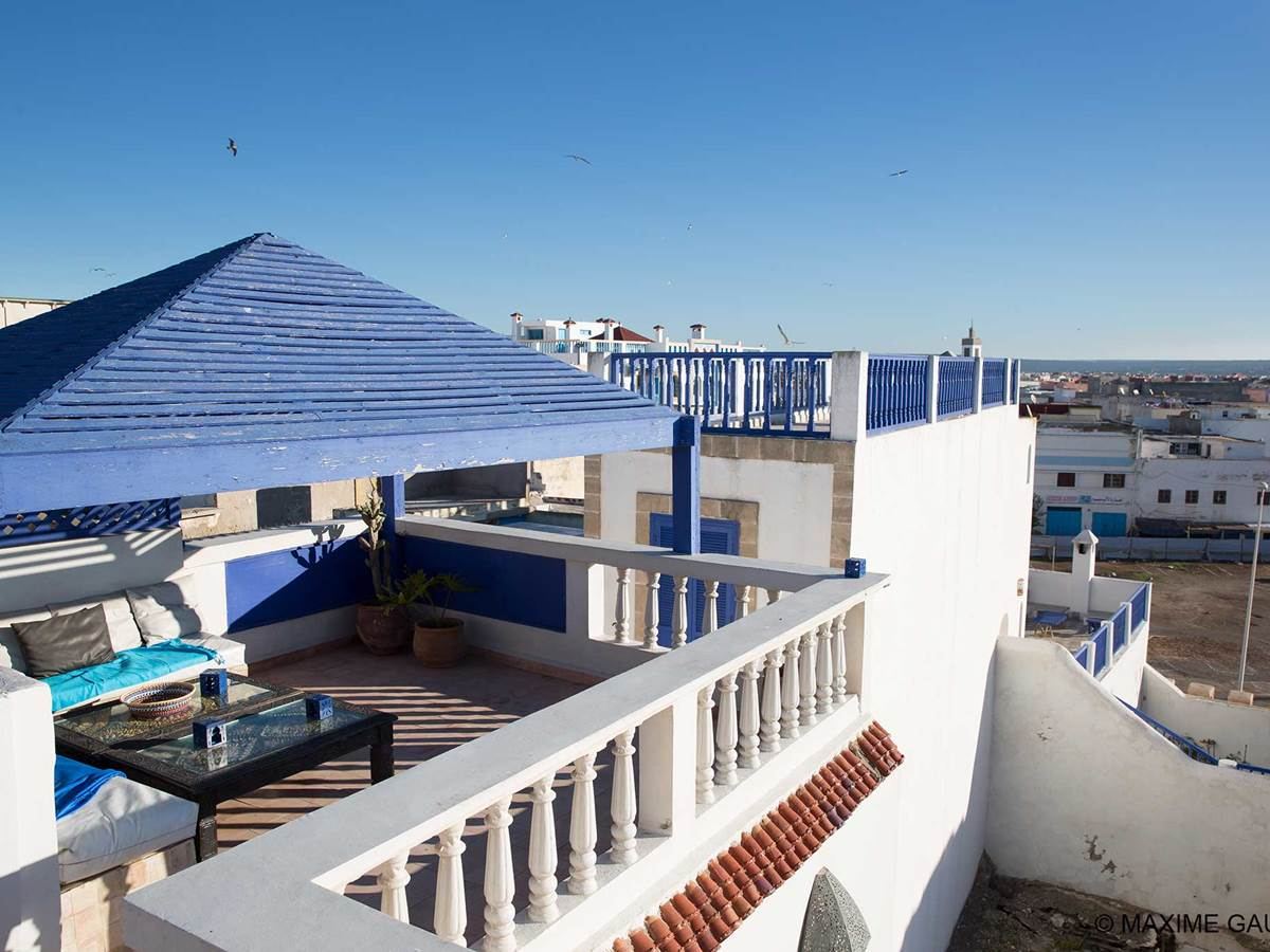 Terrasse de l'hôtel Emeraude