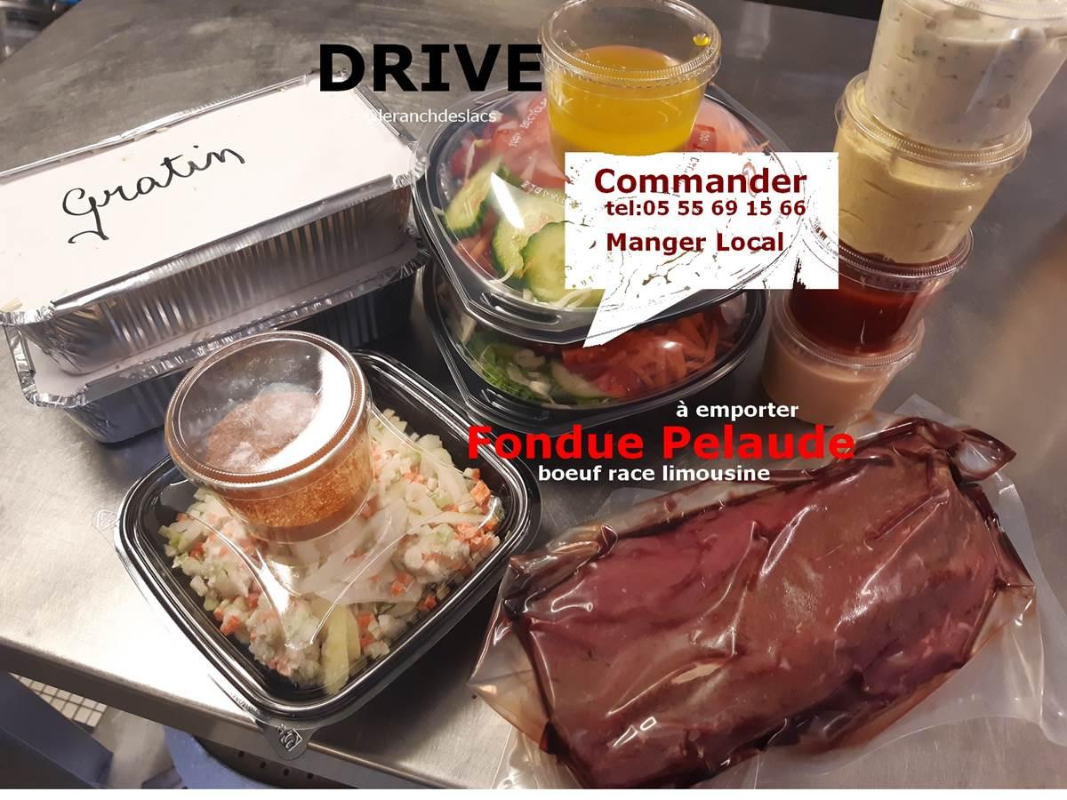 Drive Fondue Pelaude - le Ranch des Lacs - locatourisme - vacancesenFrance - mangerlocal