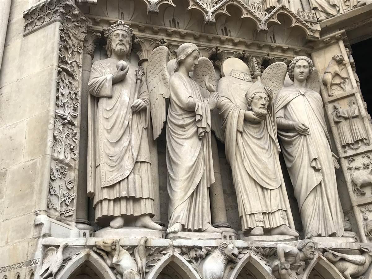 Portail de la Vierge, Cathédrale Notre-Dame de Paris