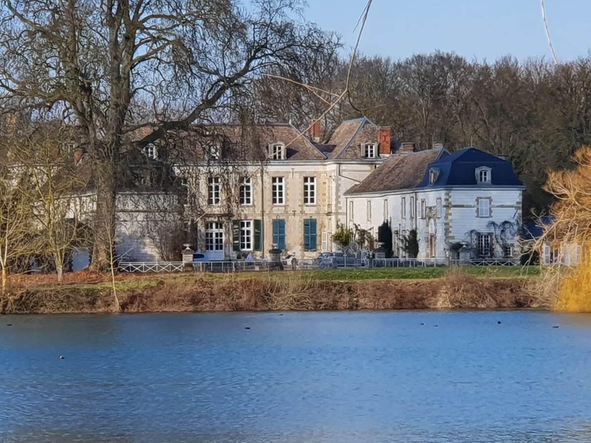 photo chateau  lac