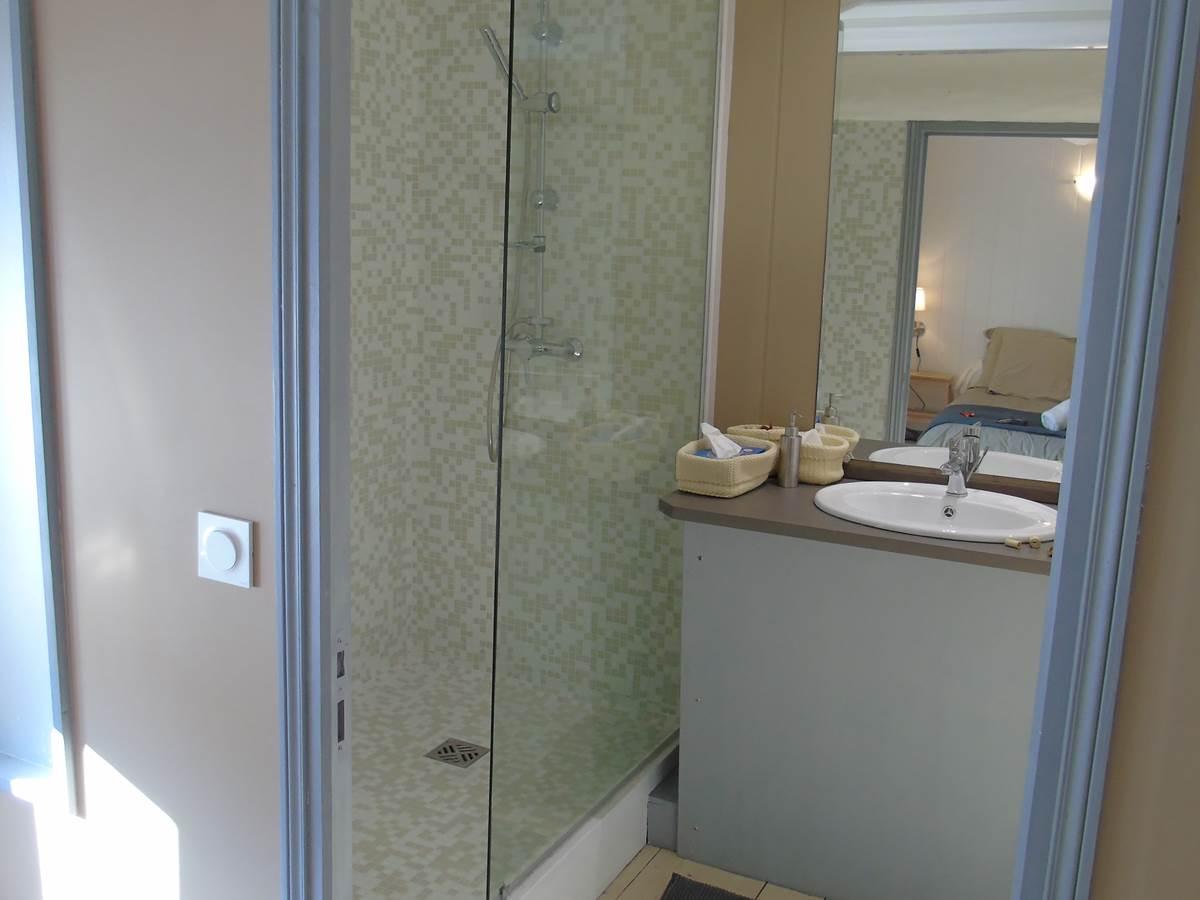 Chambre Hortail, douche italienne