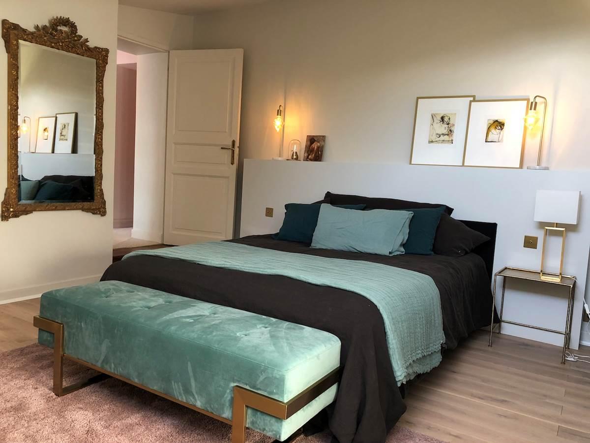 Suite Cyprès et Acacias - Chambre et lit