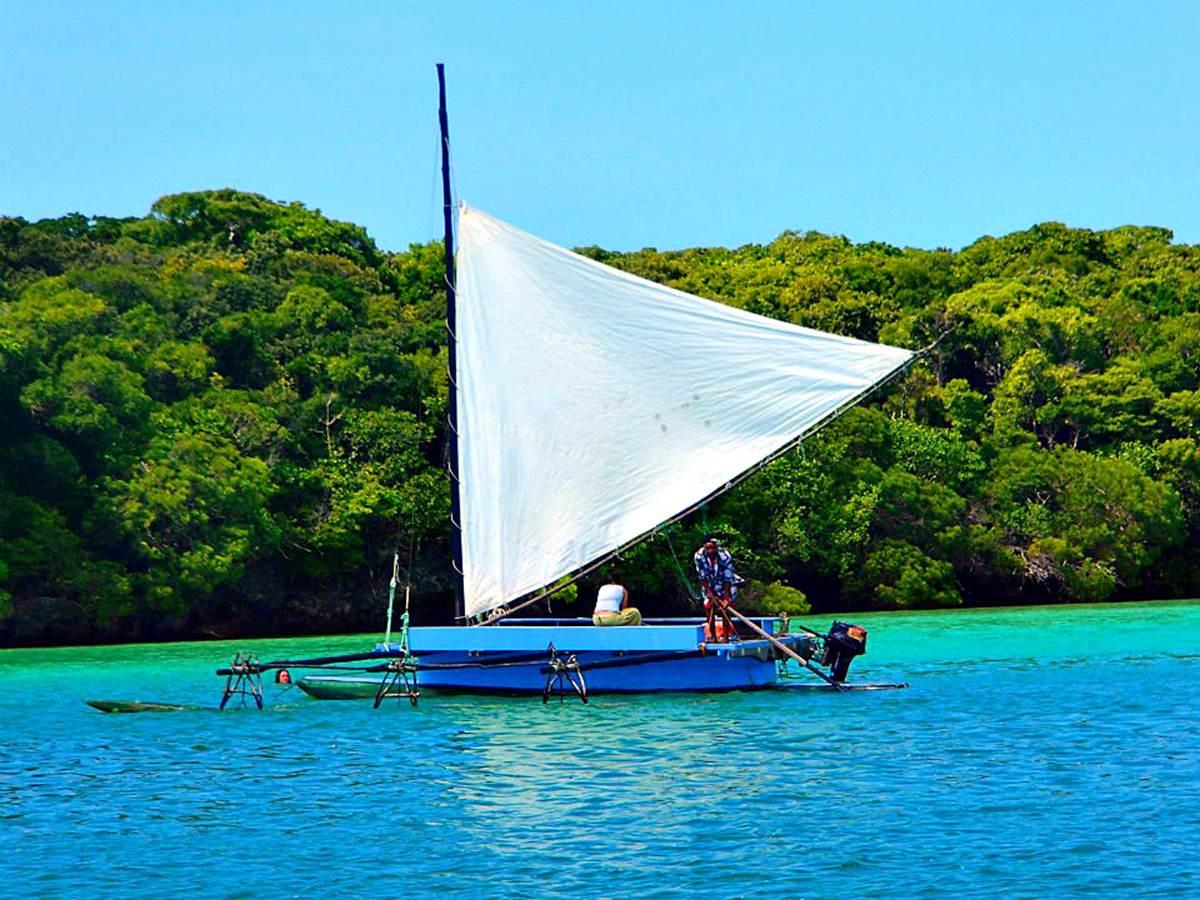 Pirogue sur la Baie d'Upi