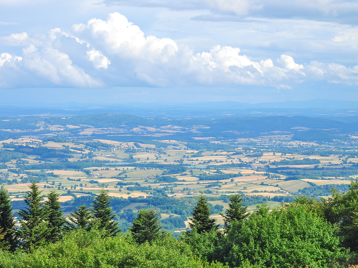 Vue sur Bibracte et le Mont Beuvray