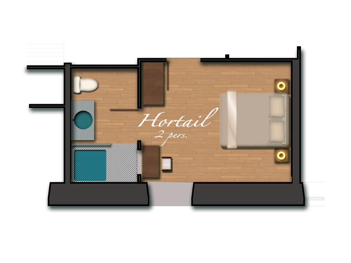 Chambre Hortail, plan
