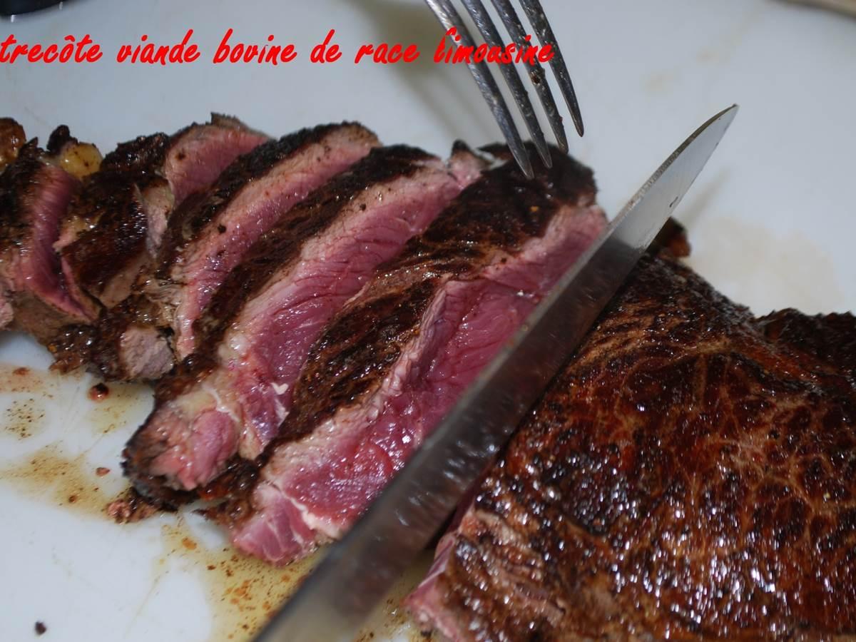 pièce de viande bovine race limousine maturée + de 9 semaines