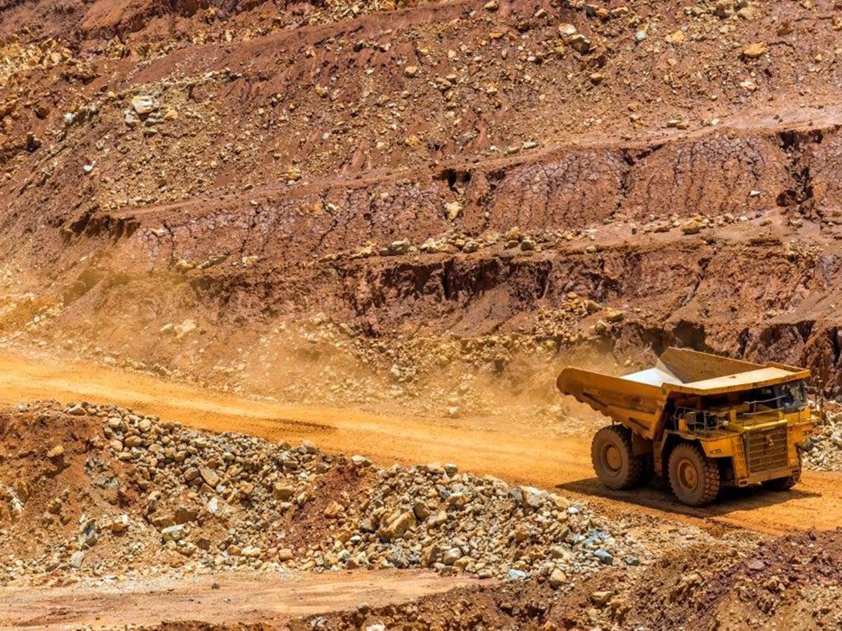 Camion de la mine