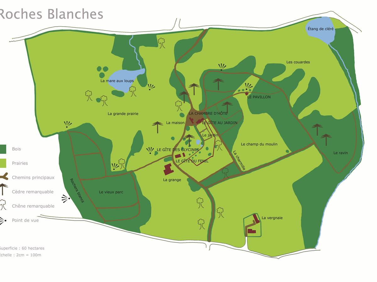 Le parc des Roches Blanches (60 hectares)