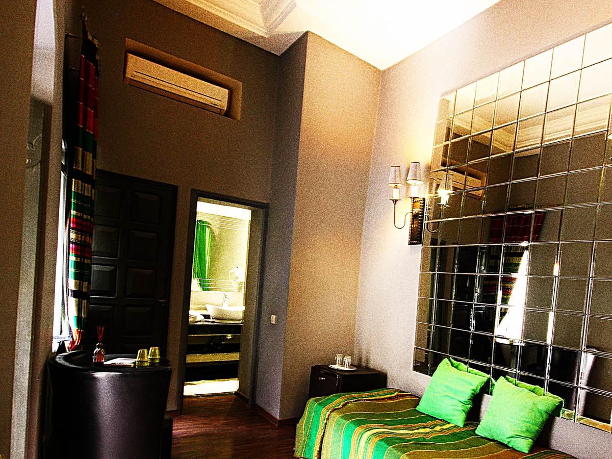 chambre Malachite riad Ralhaya