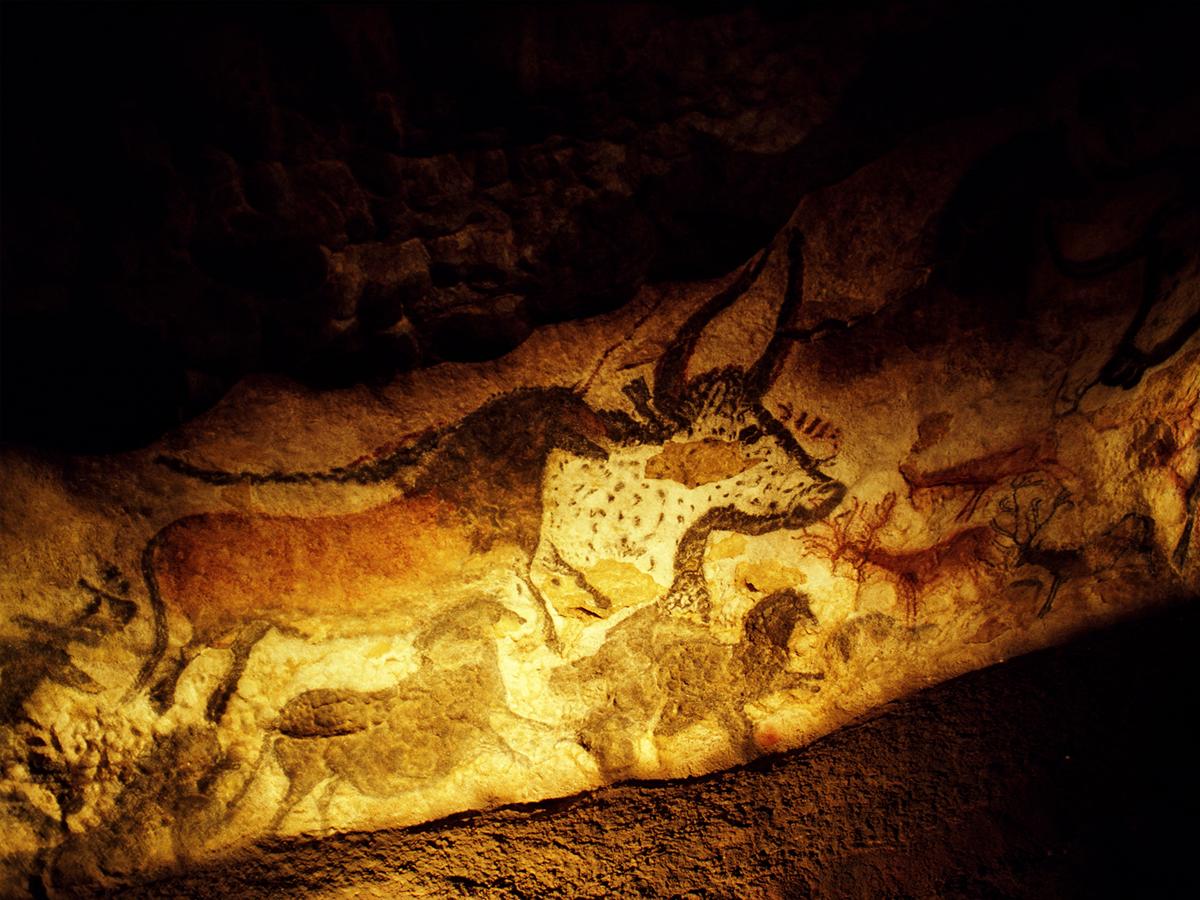 Aurochs représentés dans la grotte de Lascaux