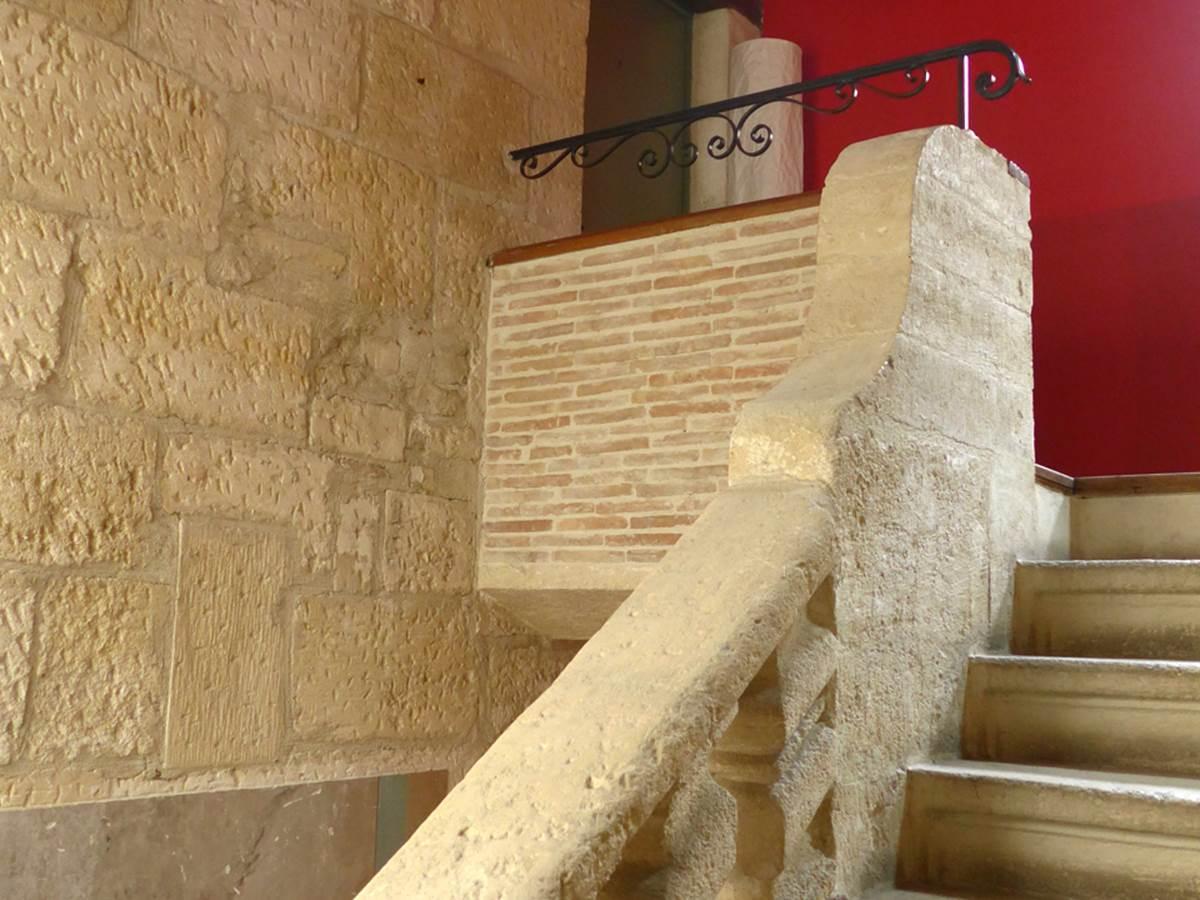 Escalier en pierre  XVIII eme