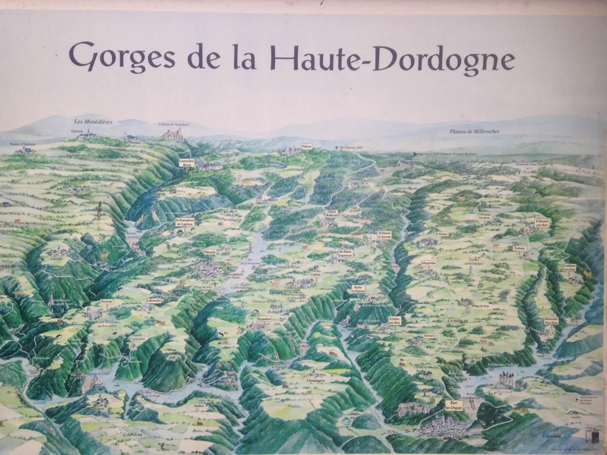 La Dordogne et ses affluents