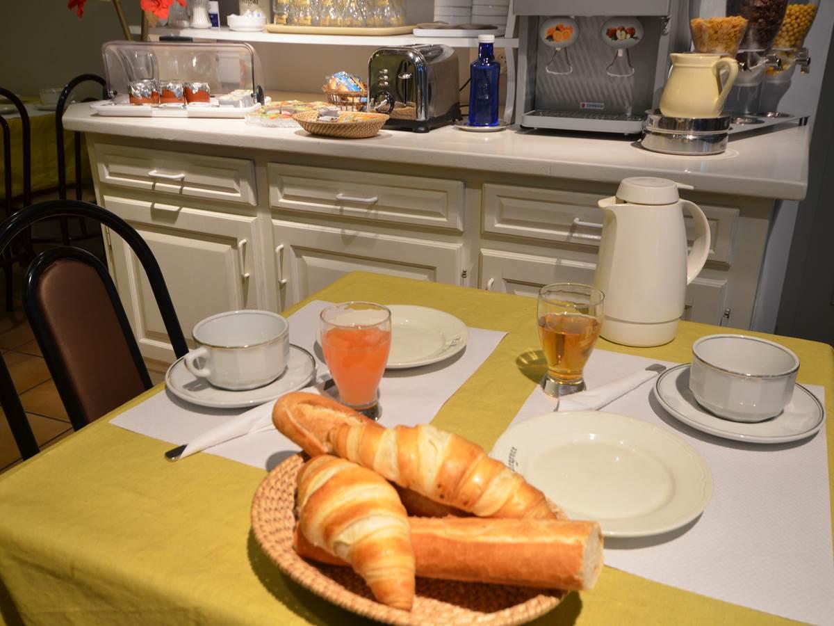 La Régence Lourdes, Buffet du Petit déjeuner