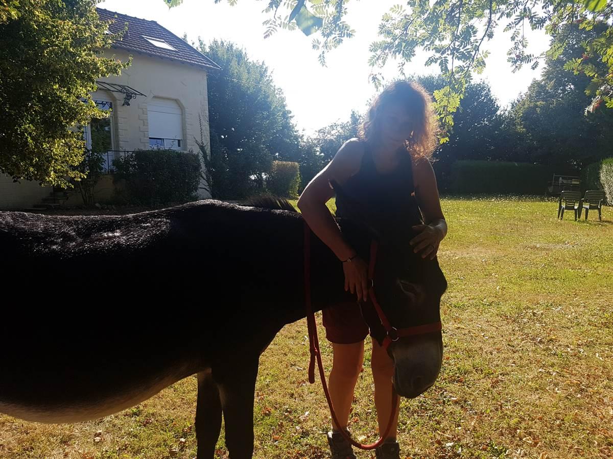 20180818_101239 rando avec un âne Maison du Masjoubert