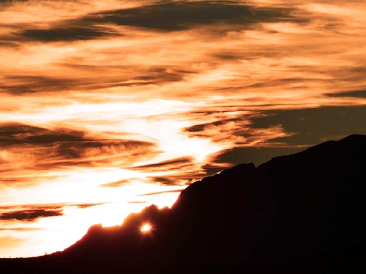 Capu Tafunatu et Paglia Orba  coucher de soleil