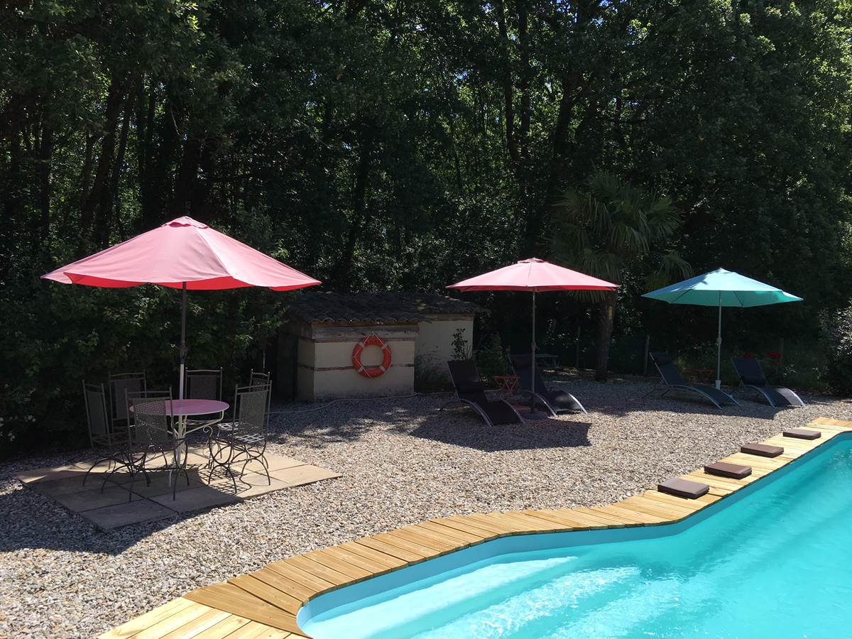 piscine coussins chambre hote montauban forestiere monclar toulouse