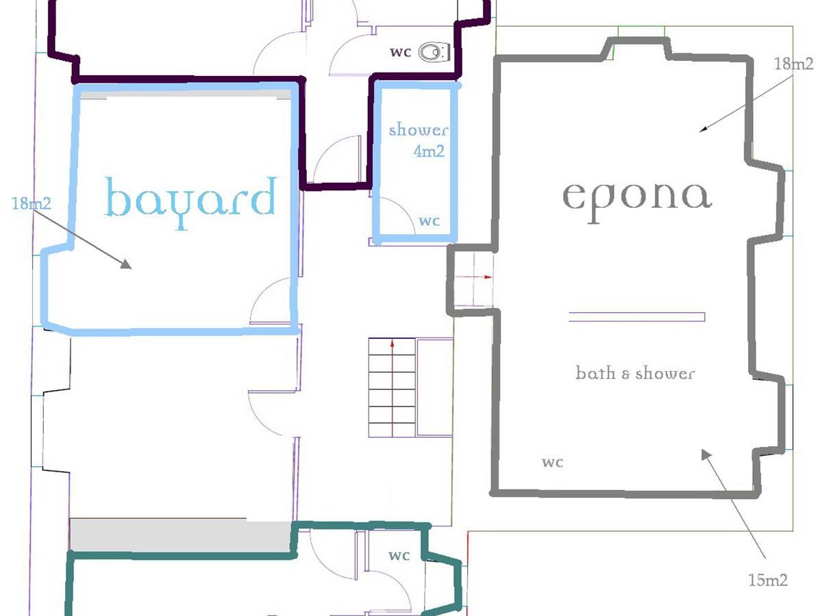 La Grande Maison Plan des chambres à l' Etage