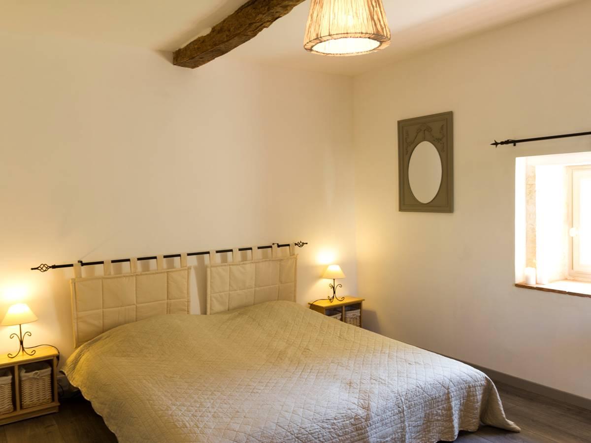 La chambre à deux lits simpes jumelés