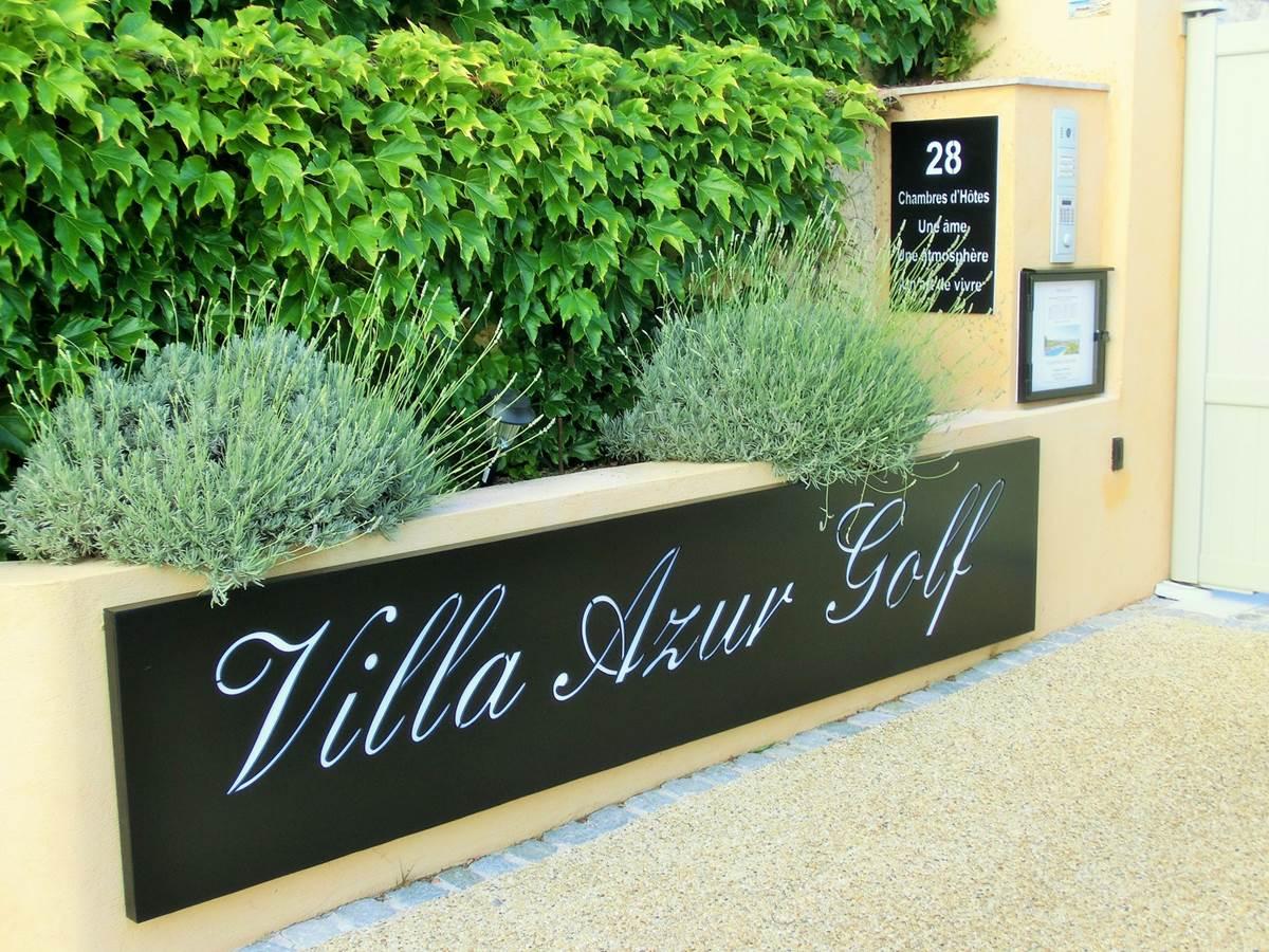 Enseigne portail Villa Azur Golf Bandol Var