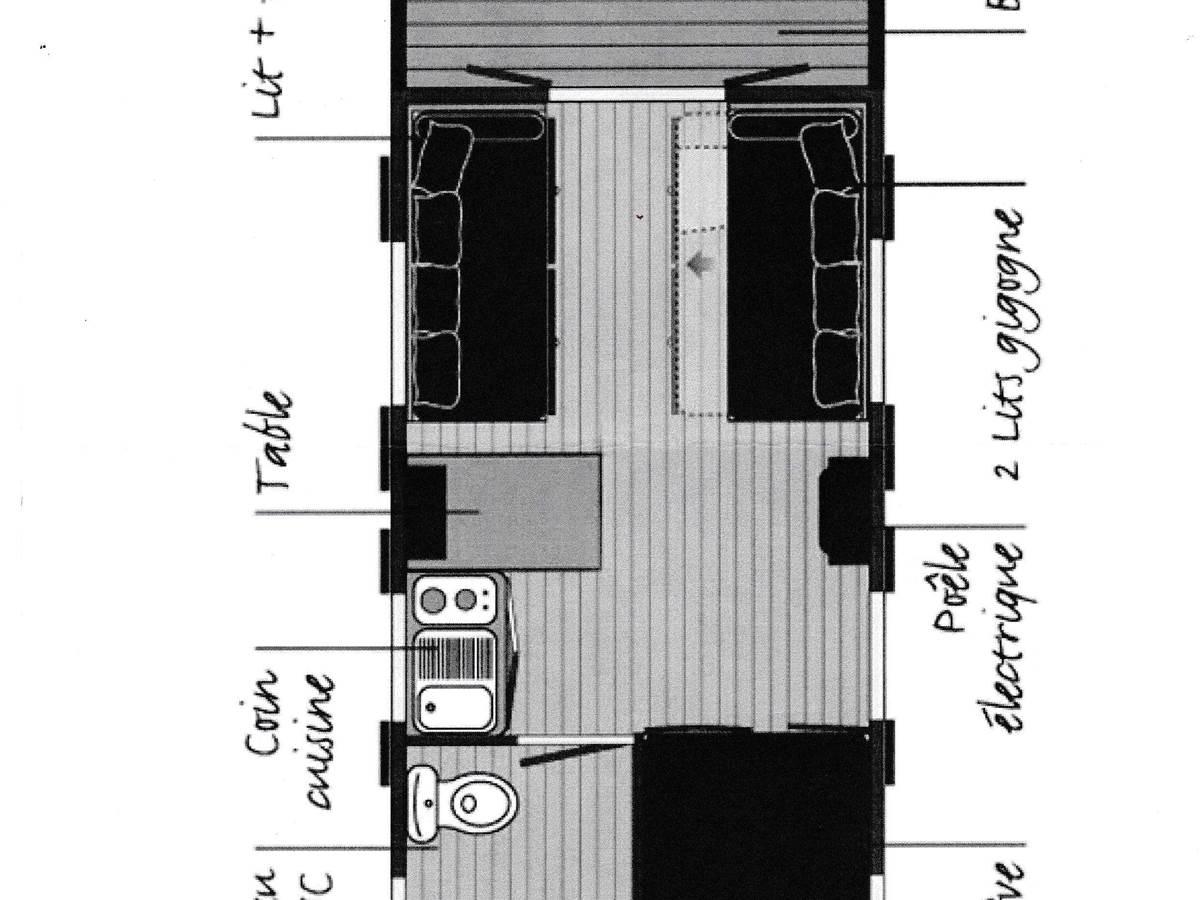 plan roulotte Domaine de Chez Cellou à Vanzac proche Jonzac