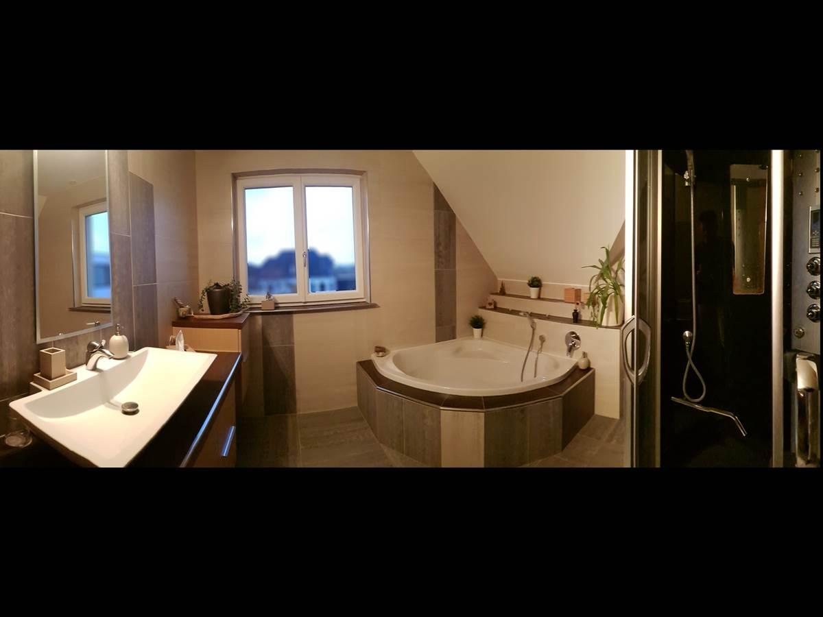 Chambre double vue sur jardin salle de bain la villa esterel village-neuf airport basel _050