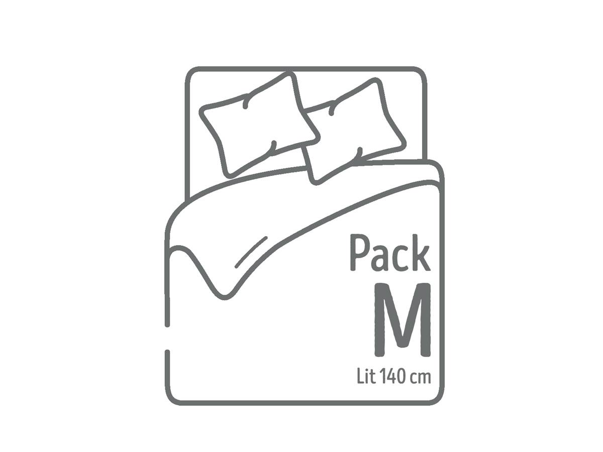 Pack lit 140 cm