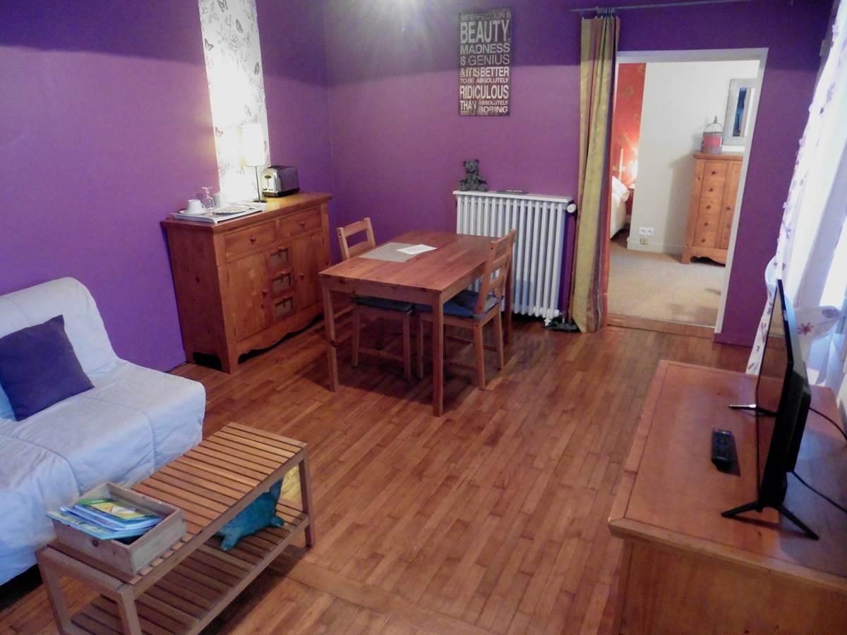 La salle de séjour - Maison d'Hôtes l'Ephémère à Limoges