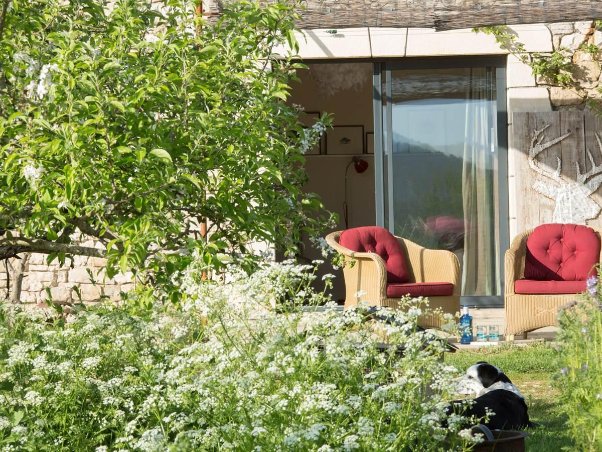 maison d'hôte dans vallée de la Dordogne dans cadre reposant et champêtre
