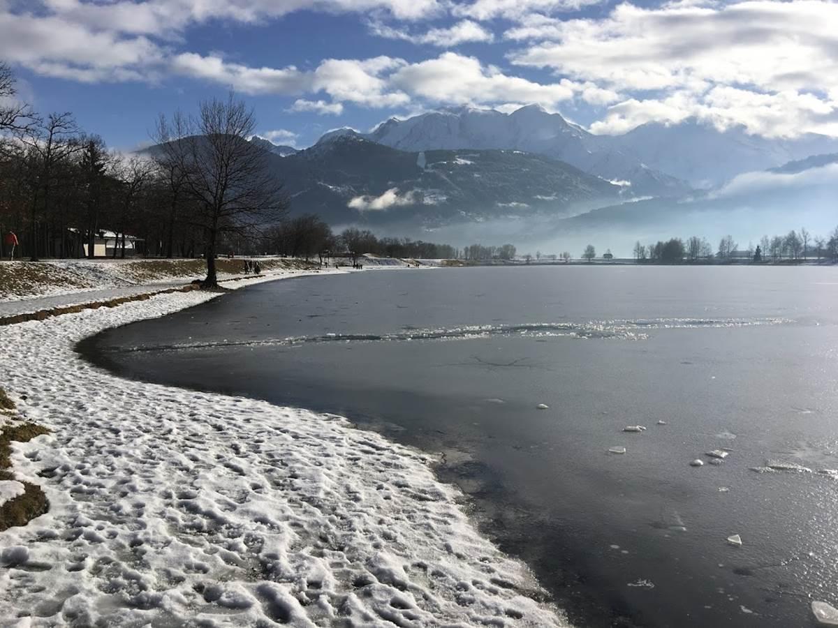 lac de passy en hiver