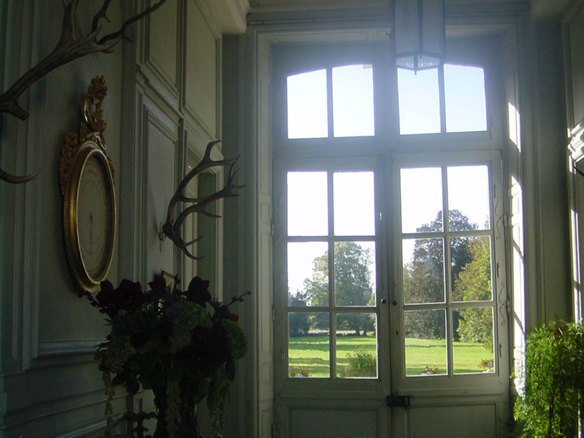 Salle d'été accès au parc