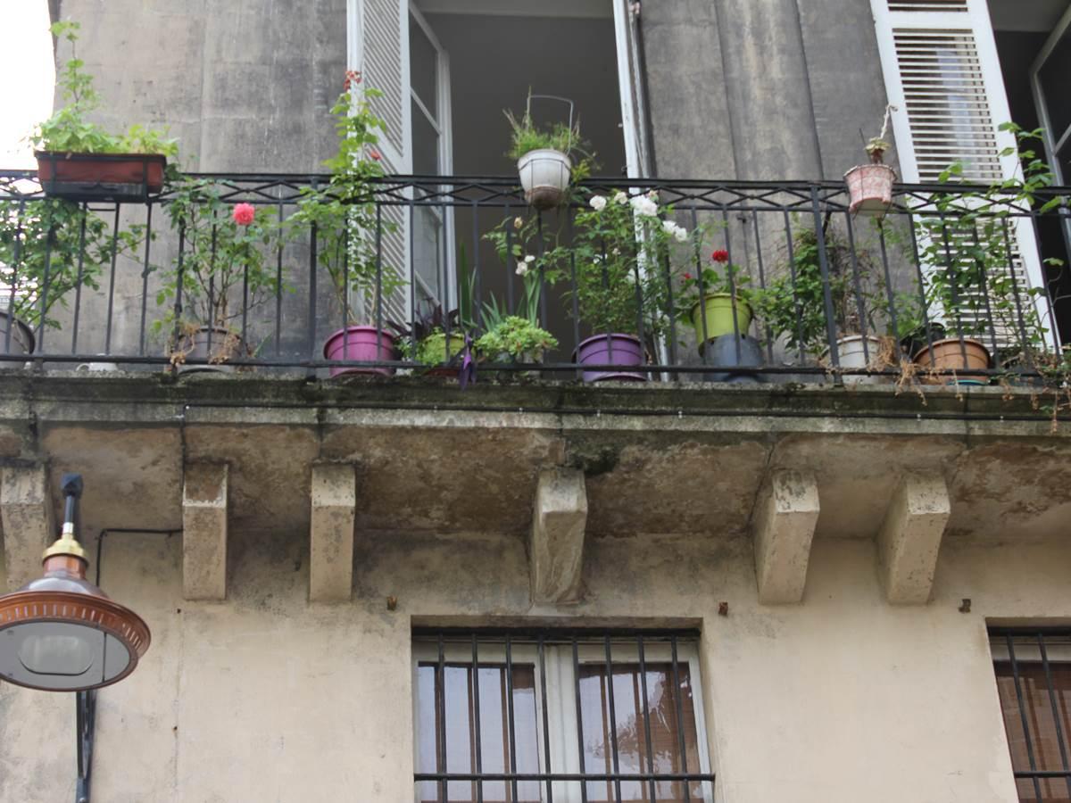 terrasse fleurie quartier Saint-Pierre