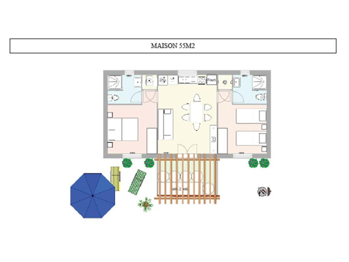 plan maison 55m²