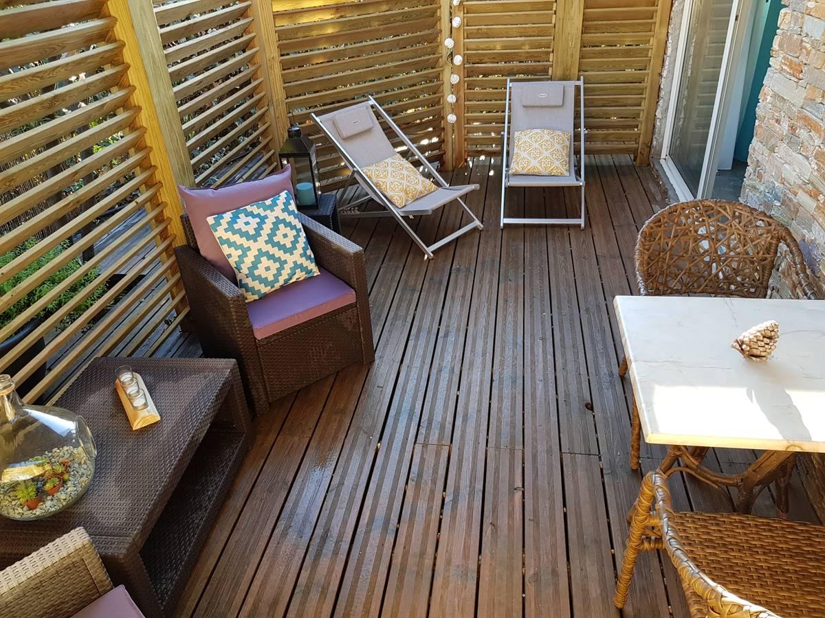 T2 jardin terrasse