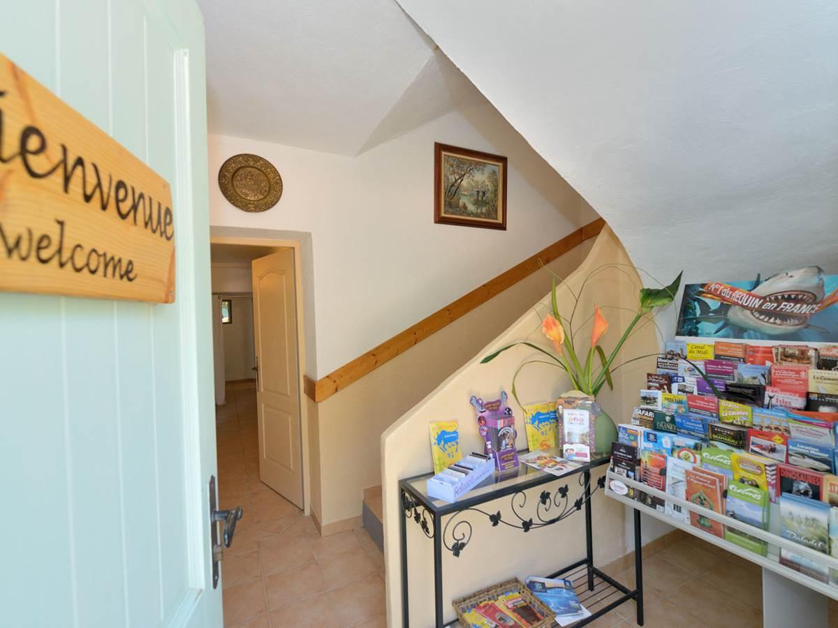 L'entrée indépendante des chambres d'hôtes