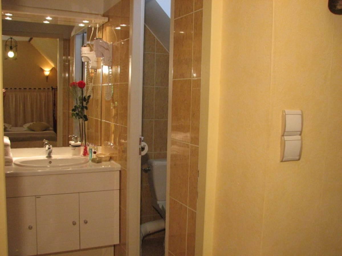 Salle de douche Chambre double Supérieure Le Pas de l' Âne Saint Ondras