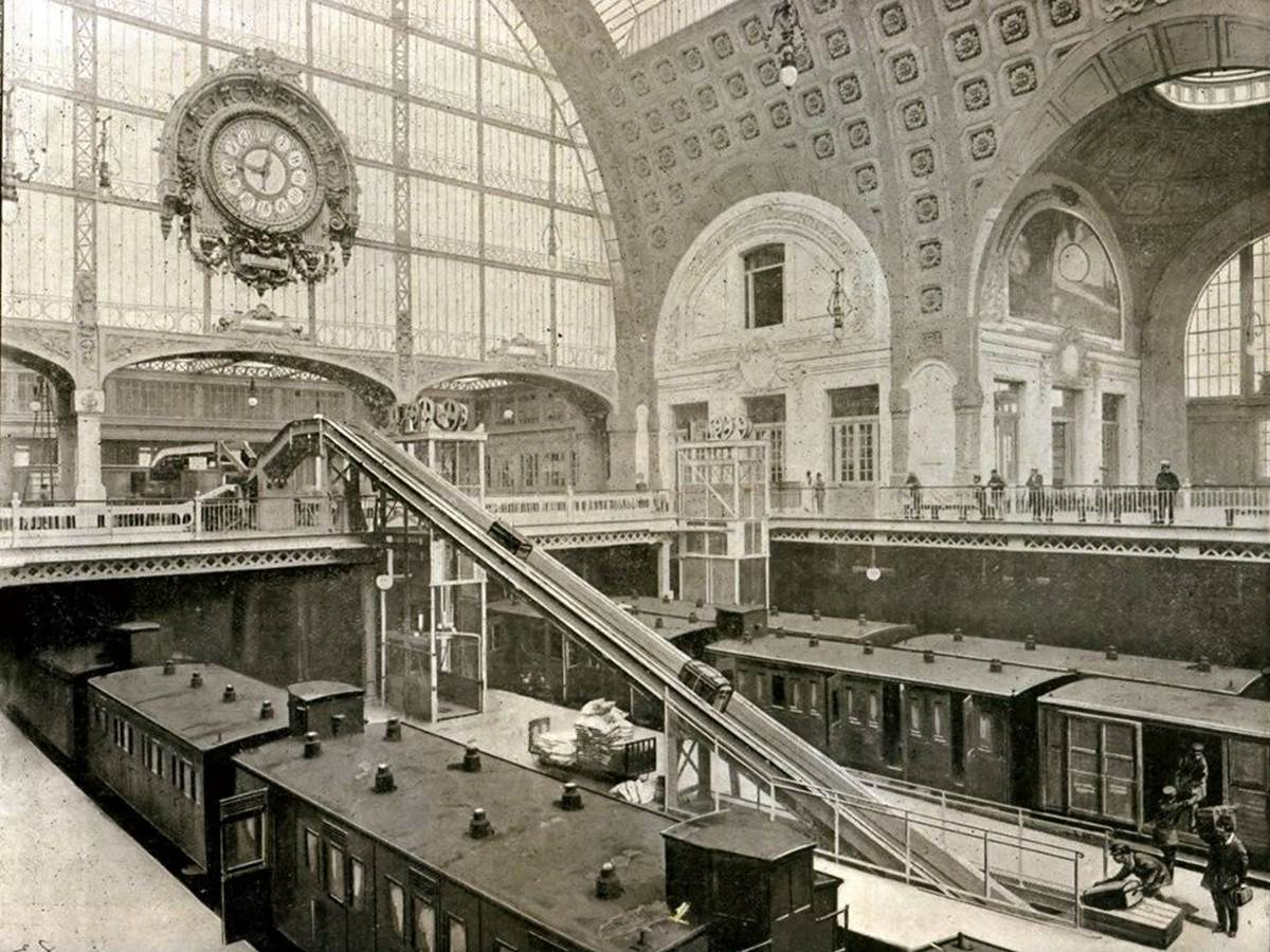 Orsay before the museum was the first electrified urban rail terminal in the world, opened 28 May 1900 (source - Musée Carnavalet)