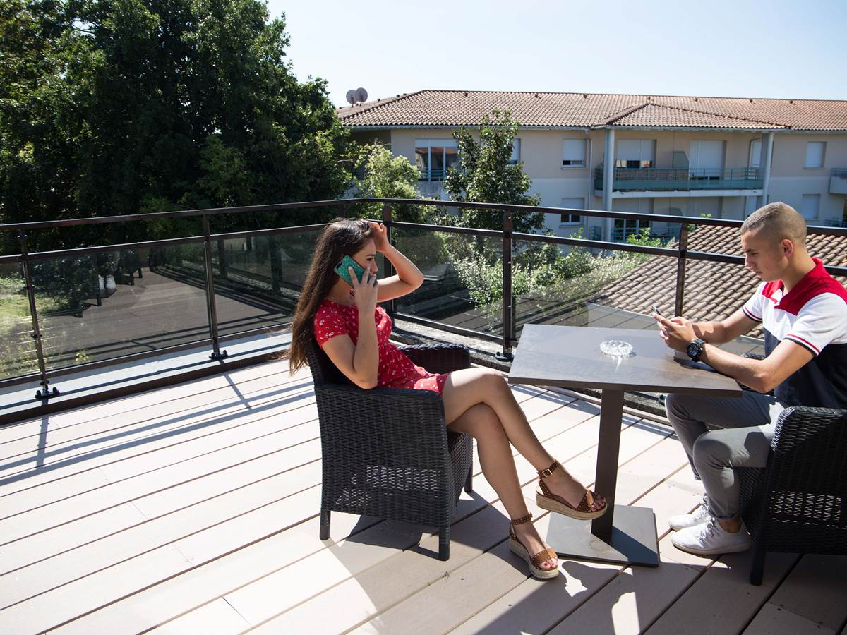 Terrasse privative du logement 4..