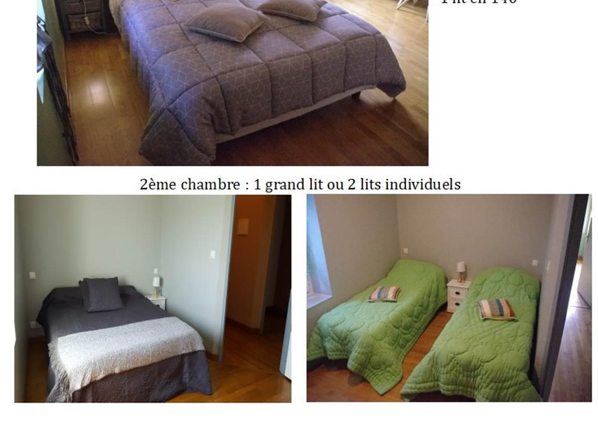 Chambre Familialeentre amis .. composée de 2 chambres
