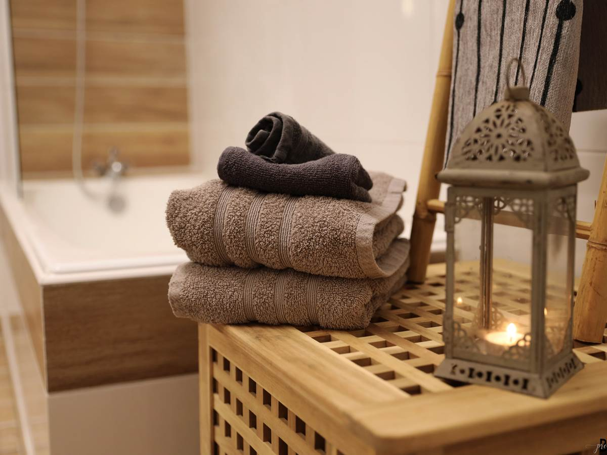 salle de bain baignoire et douche