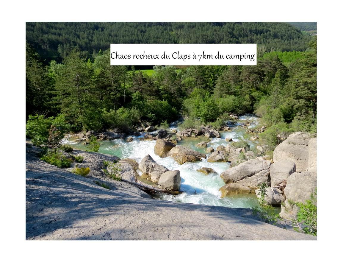 Chaos rocheux du Claps à 7km du camping