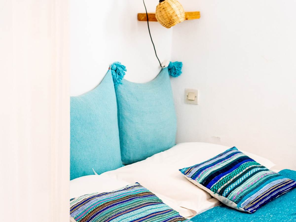 Chambre bleue turquoise