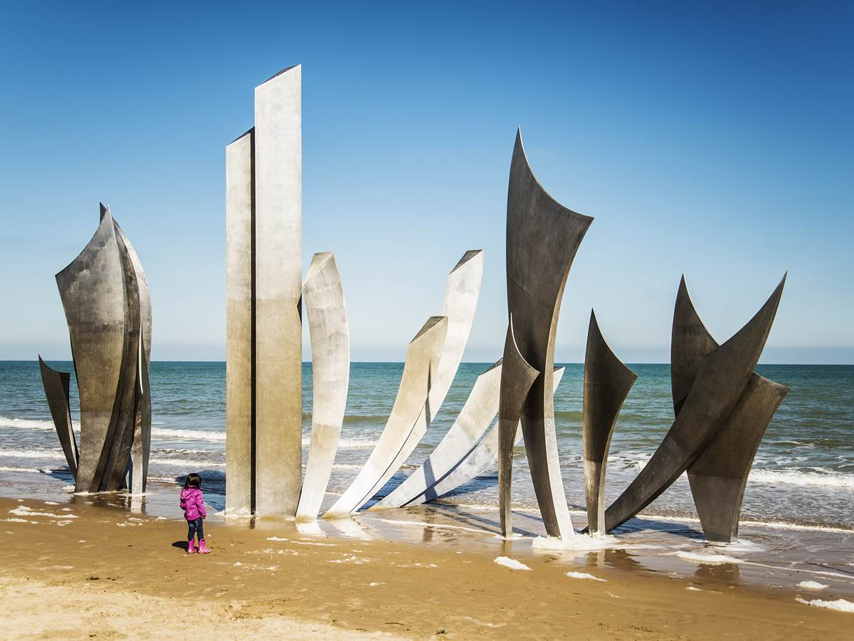 Les braves, plage d'Omaha Beach