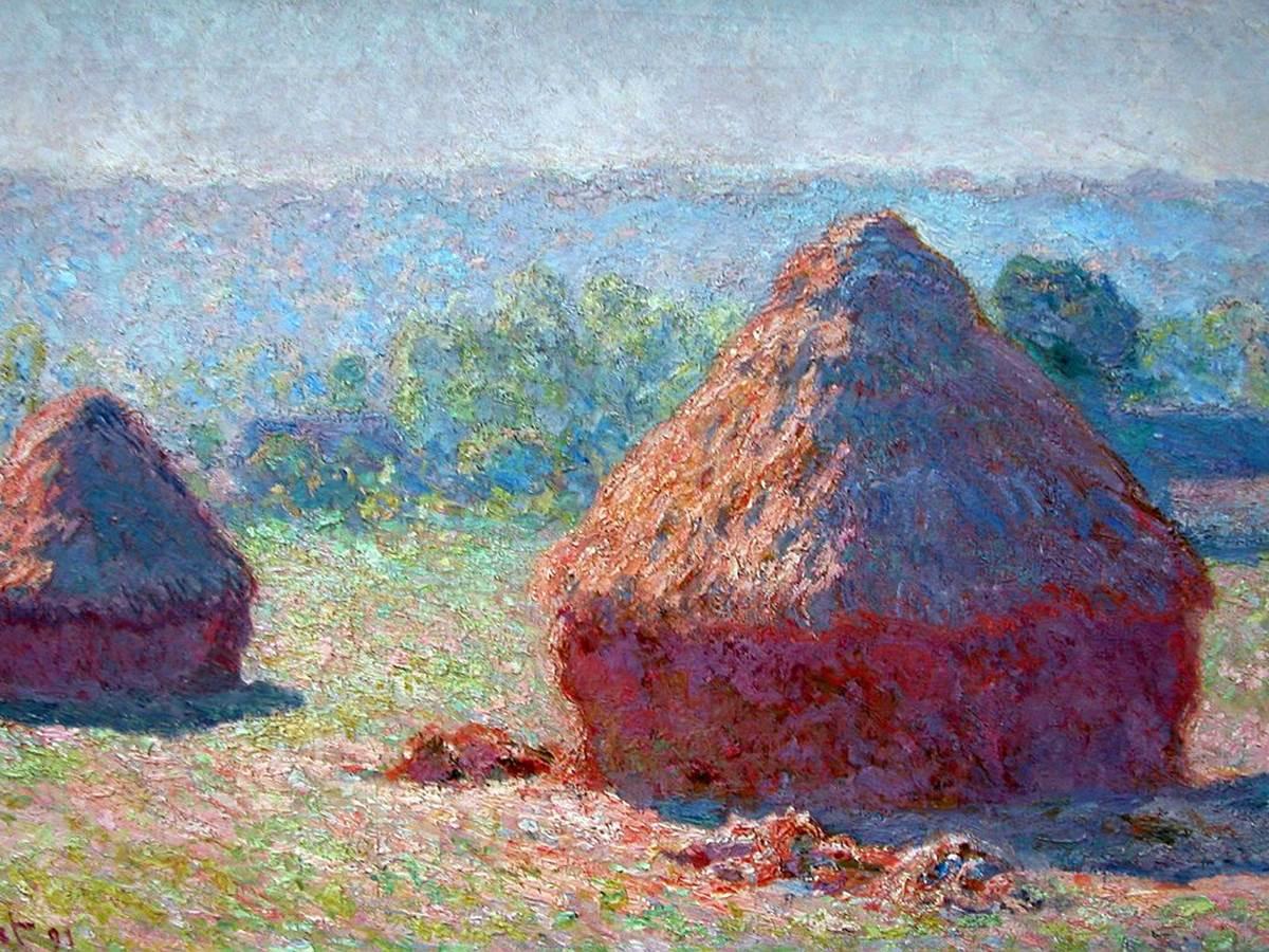 Monet, Haystacks, End of summer morning
