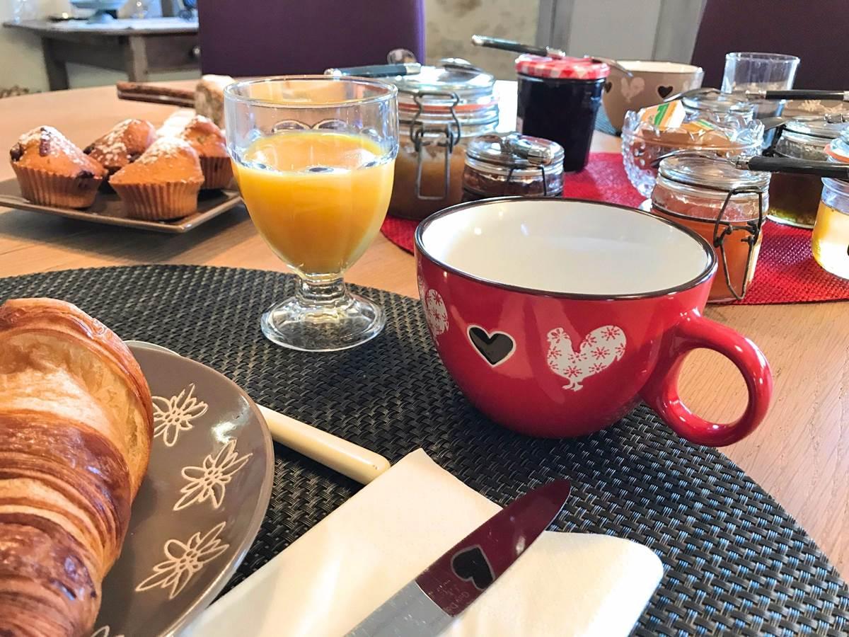 Côté Granges, petit déjeuner