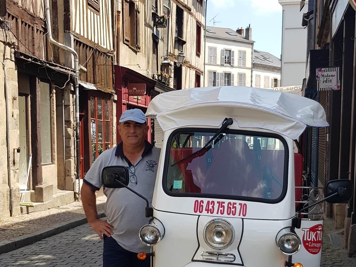 Tuk tuk de Limoges, Lionel à votre service pour une balade atypique de la ville