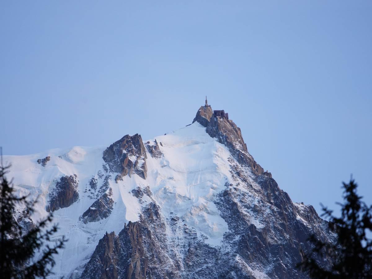 Aiguille du Midi, photographie prise du balcon Sud
