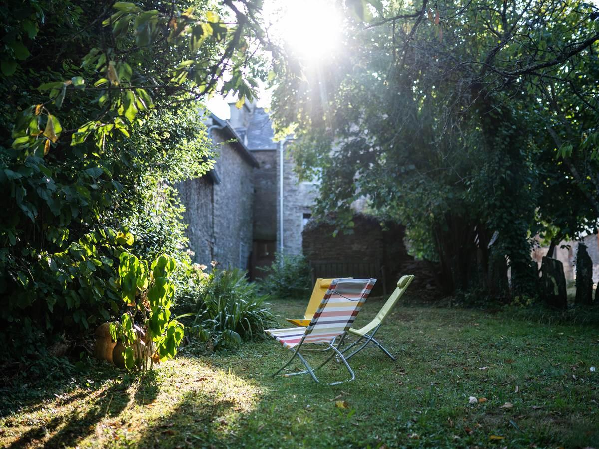 jardin gîte La Correspondance - Saint Congard