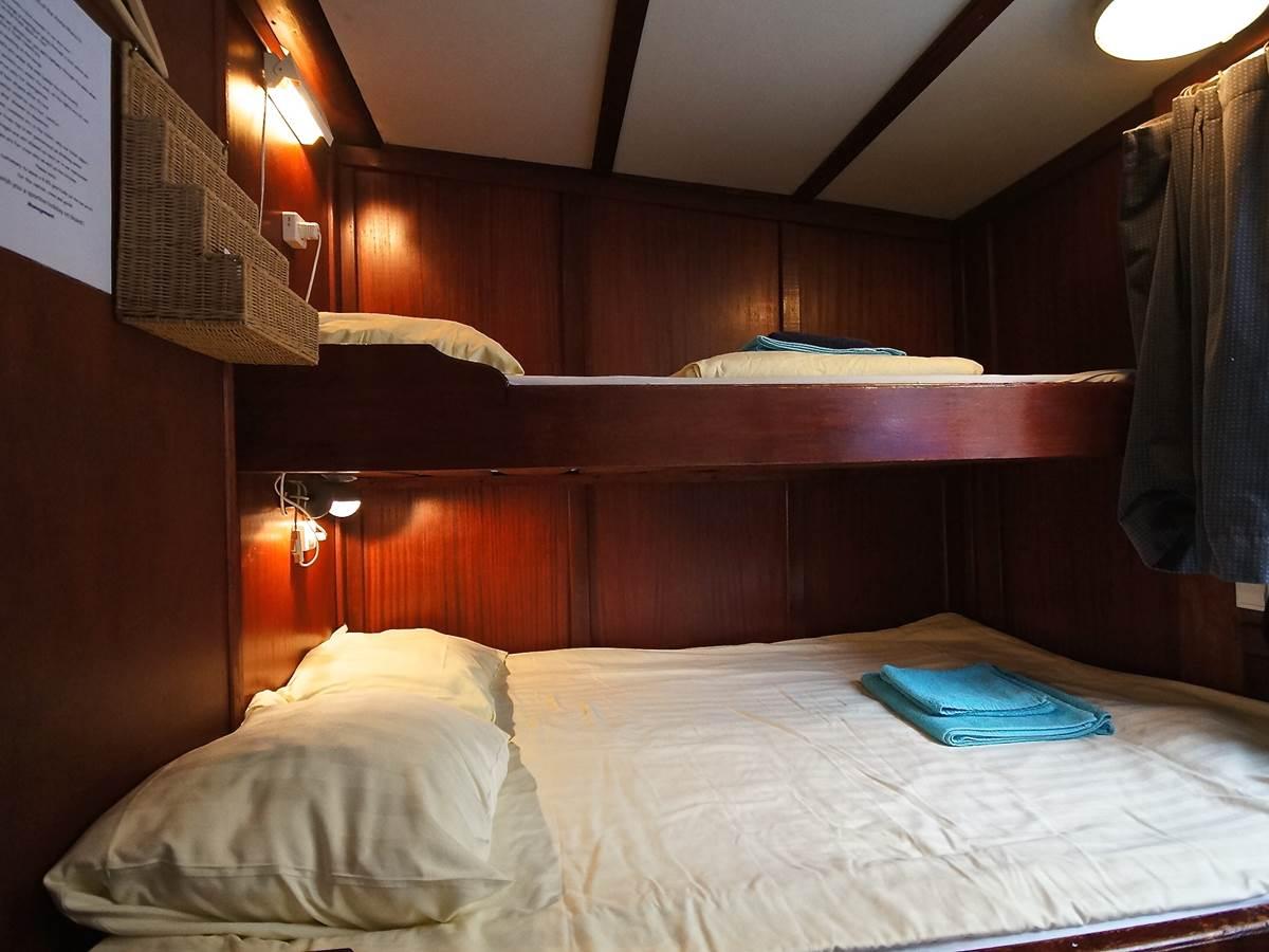 Chambre double et triple - Péniche hôtel