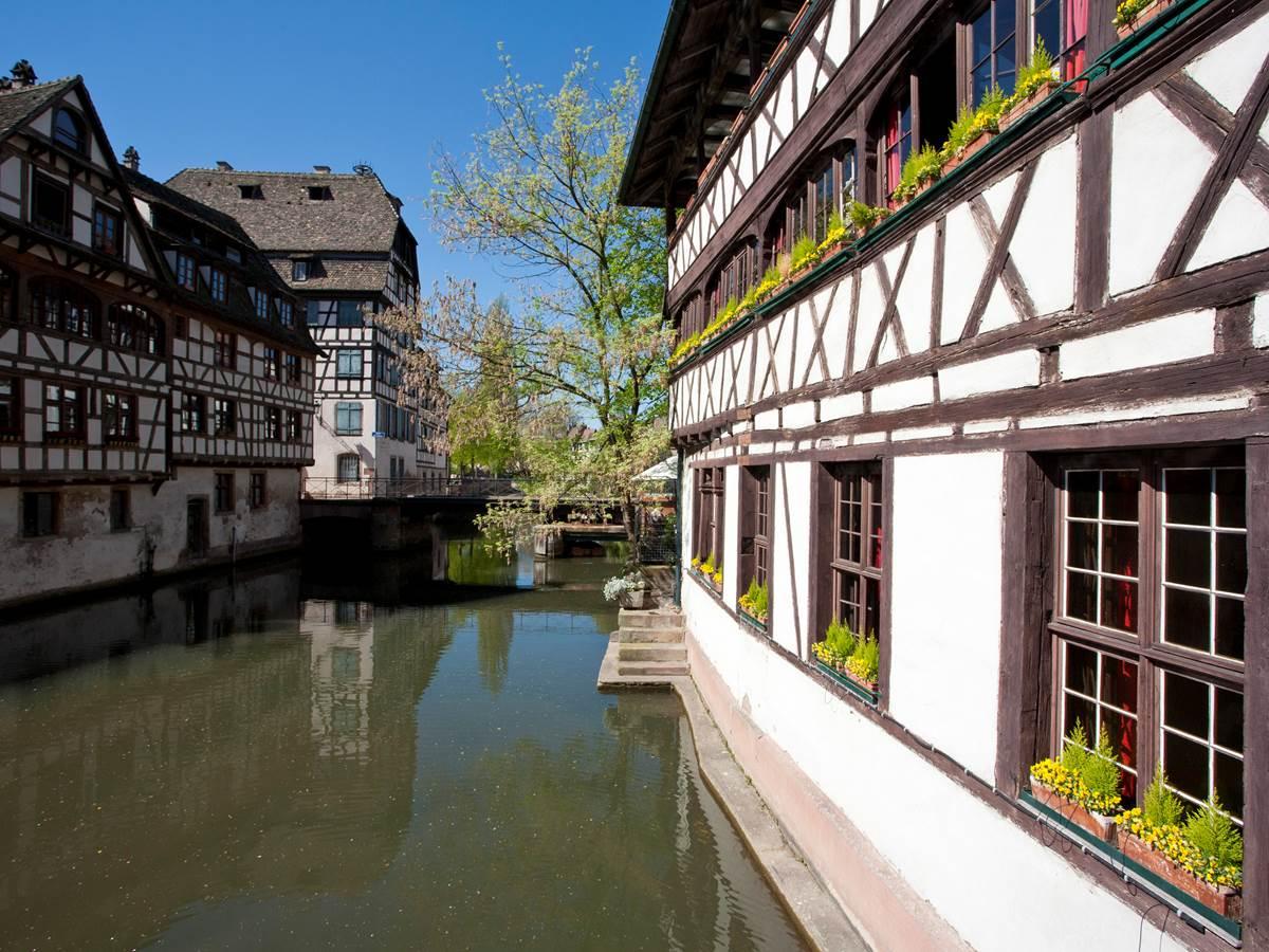 Quartier de la Petite France où la rivière Ill se divise en plusieurs bras pour former des canaux comme à Venise