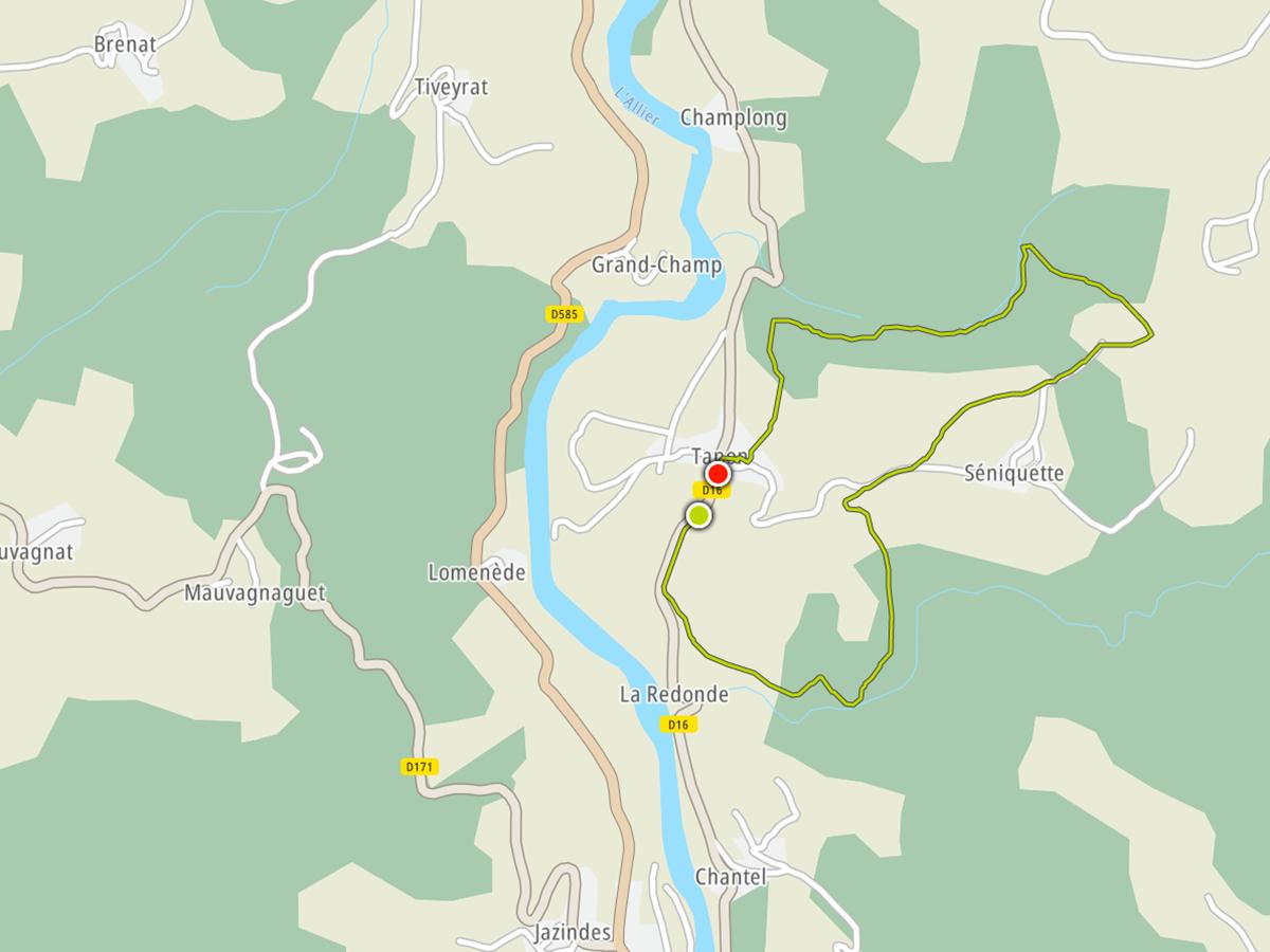 Tapon  St Ilpize  Gorges de l'Allier